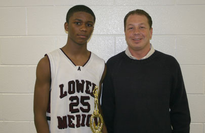 Jameer Nelson Classic MVP Carl Johnson with Jeremy Treatman